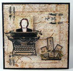 Darkroom Door: Vintage Office stamp set projects by Suzanne Czosek