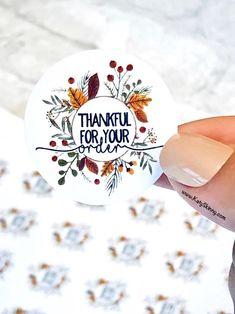 Pretty Packaging, Packaging Ideas, Craft Packaging, Packaging Stickers, Label Stickers, Business Stickers, Personalized Stickers, Thank You Stickers, Sticker Shop