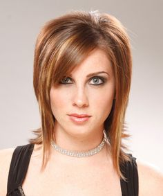Hairstyle-Fancy layering through the sides and back of this hairdo gives it fabulous shape which is best suited for those with round face shapes.