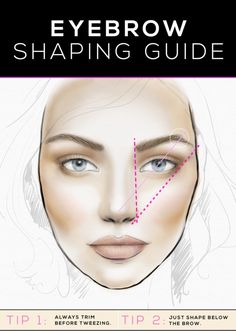 eyebrow shaping guide - how to get the most flattering eyebrow shape for your face