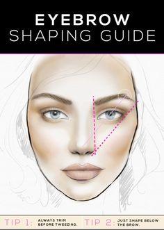 eyebrow shaping guide