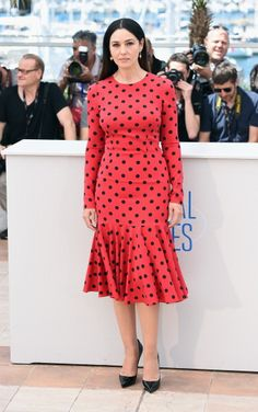 Fabulously Spotted: Monica Bellucci Wearing Dolce & Gabbana - 'The Wonders' 2014 Cannes Film Festival Photocall - http://www.becauseiamfabulous.com/2014/05/monica-bellucci-wearing-dolce-gabbana-the-wonders-2014-cannes-film-festival-photocall/