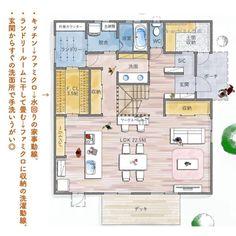 2019年 ベストオブ間取り賞 受賞! | folk House Layout Plans, House Layouts, House Floor Plans, Small Japanese House, Japanese Style House, Apartment Layout, Beach House Decor, My Room, My Dream Home