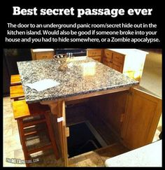 Secret room under the island