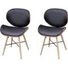 2 pcs Armless Dining Chair with Bentwood Frame Black Dining Chairs, Fabric Dining Chairs, Chair Fabric, Vintage Loft, Australia Living, Artificial Leather, Luxury, Furniture, Home Decor