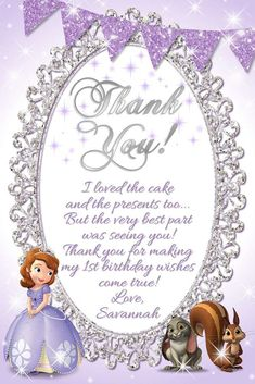 Sofia the First Birthday Party Ideas Princess Sofia Birthday, Sofia The First Birthday Party, Second Birthday Ideas, Third Birthday, 1st Birthday Girls, 1st Birthday Wishes, 4th Birthday Parties, 1st Birthdays, Birthday Party Invitations