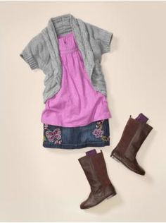 cute fall outfit for Little Miss... with some tights