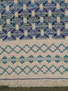 Natural Swedish Weave Blanket by NeenersWeaving on Etsy, 150.00