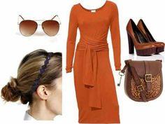 Burnt orange fashion    Re-Pinned by: http://high5collegeclub.com