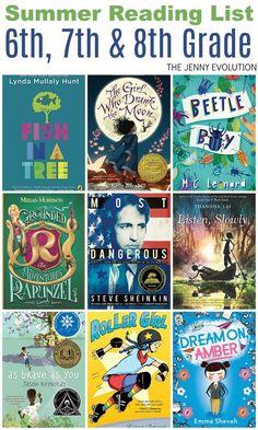 Summer Reading List 6th Grade, 7th Grade & 8th Grade | The Jenny Evolution