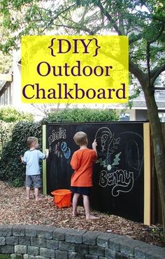 My House and Home: DIY outdoor chalkboard