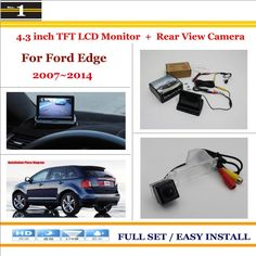 """Car Parking Camera + 4.3"""" LCD Monitor NTSC PAL = 2 in 1 Parking Rearview System - For Ford Edge 2007~2014"""