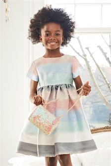 Stripe Metallic Dress (3-16yrs)