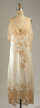 1930s silk French nightgown. The Metropolitan Museum of Art.