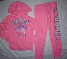 JUSTICE Girls Outfit Size 8 *Sweatpants & Hoodie Jacket* Dance - http://clothing.goshoppins.com/kids/justice-girls-outfit-size-8-sweatpants-hoodie-jacket-dance/