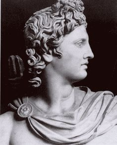 Apollo, god of the sun, prophecy, light, poetry, music, etc. and twin brother of Artemis ~ (second favorite god) most important and complex god people remember. His father is Zeus and his mother was Leto (died after giving birth to her twins).