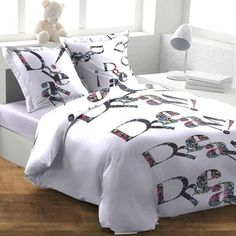 Parure Housse de Couette DREAM BLANC Disponible sur le site www.textile-de-maison.net