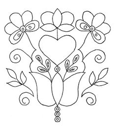 Embroidery Pattern from Dziergan mania (and) a: Embroidery from Schwalm.   jwt