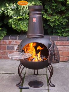 Chimenea Fireplace with BBQ Grill