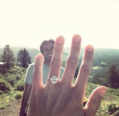 Send a sweet teaser photo after he proposes.