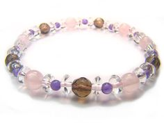 Rose Quartz Smoky Quartz Amethyst Clear Quartz Natural Crystal Bead Bracelet 3 - See more at: http://waggashop.com/wagga-shop-rose-quartz-smoky-quartz-amethyst-clear-quartz-natural-crystal-bead-bracelet-3