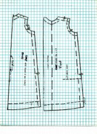 free fashion doll sewing patterns, free barbie doll patterns, girl and doll clothes ~ part of a pattern for a coat. Click link for other pattern pieces and tutorial