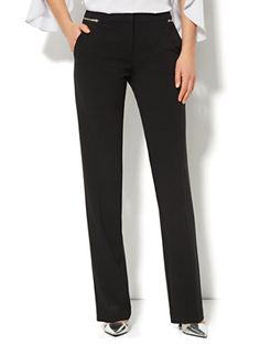 Shop 7th Avenue Straight-Leg Pant - Zipper Accent. Find your perfect size online at the best price at New York & Company.