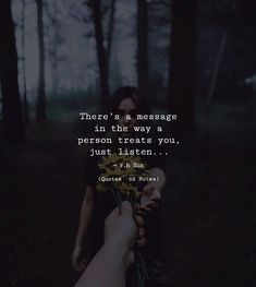 Theres a message in the way a person treats you just listen. - R.H.Sin via (http://ift.tt/2sHihJX)