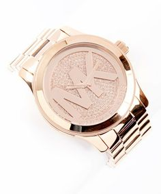 Rose Gold Crystal-Face Watch