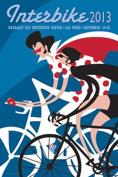 Interbike 2013 Cycling Poster - Road Bike City