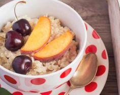 Porridge au son d'avoine pour goûter brûle-graisses