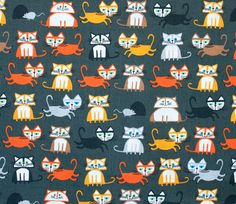 1 YD  Cats  Ed Emberley  Happy Drawing Too  Cloud9 by Maigocute, $13.00