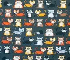 1 YD  Cats  Ed Emberley  Happy Drawing Too  Cloud9 by Maigocute, $13.00