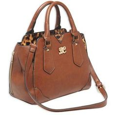Satchel Purse With Holster Chstnt