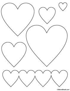 Herzvorlagen (Bild) – Día del Amor y la Amistad - Malvorlagen Mandala Sewing Appliques, Applique Patterns, Craft Patterns, Felt Patterns, Quilting Stencils, Quilting Designs, Valentine Crafts, Valentines, Motifs D'appliques