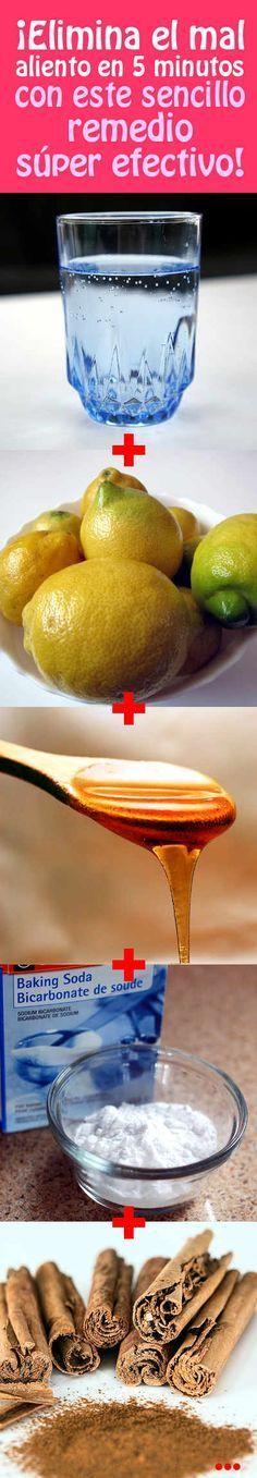 ¡Elimina el mal aliento en 5 minutos, con este sencillo remedio súper efectivo!