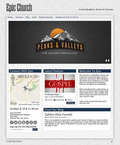 Epic is a WordPress theme that has been designed from the ground up with the needs of churches in mind