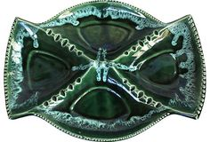 Emerald-Green Ashtray / looks like some of your dishes Britany