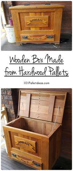 Wooden Box Made from Hardwood Pallets | 101 Pallet Ideas