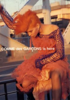 Love Comme Des Garçon ❌ I don't always love their ad campaigns, but this one is kinda dope