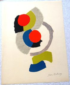Sonia Delaunay, Lithograph signed in pencil by the artist