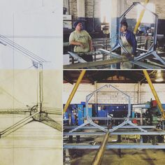 Movable pavilion - Manufacturing of roof trusses