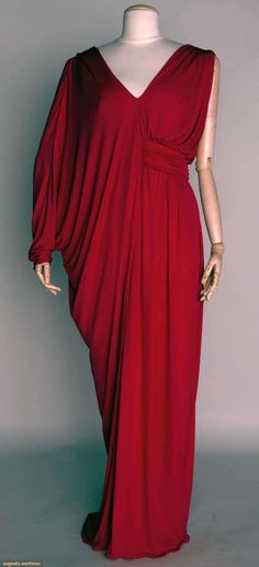 Mme. Gres Red Evening Gown, Late 20th C, Augusta Auctions, November 13, 2013 - NYC