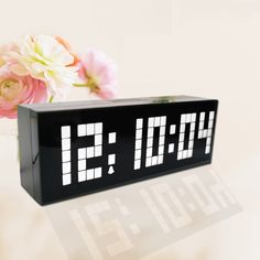 White Led Alarm Clock, 3 level brightness control and 6 groups of alarm, countdown and count up, is your best choose! Get it on Amazon!