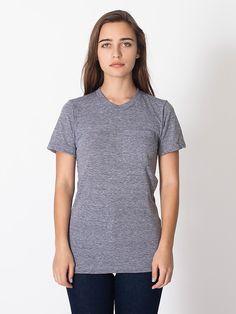 Unisex Tri-Blend Pocket Short Sleeve T-Shirt
