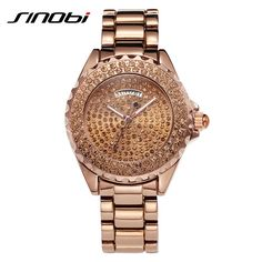 >> Click to Buy << SINOBI Silver Woman Watches Rhinestone Diamond Watches For Women High Quality Fashion Female Watch Vogue Quartz Lady Wristwatch #Affiliate