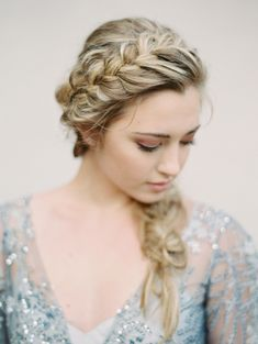 Gorgeous crown braid: http://www.stylemepretty.com/2016/05/09/the-only-pantone-inspiration-youll-need-to-see-this-year/ | Photography: Charla Storey - http://www.charlastorey.com/