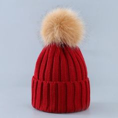 7027a404c06 Skulls   Beanies. Cute Winter Mom Women Baby Kids Crochet Knitted Hat Caps  Children Girl Boy Wool Fur Bobble Ball Pompom ...