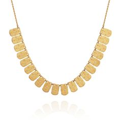 TEMPLE OF THE SUN JEWELLERY BYRON BAY - Hellenic Necklace Gold Brushed, $186.35 (http://www.templeofthesun.com.au/hellenic-necklace-gold-brushed/)