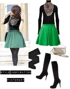 """""""Green Skater Skirt & Leo Scarf"""" August 19th"""